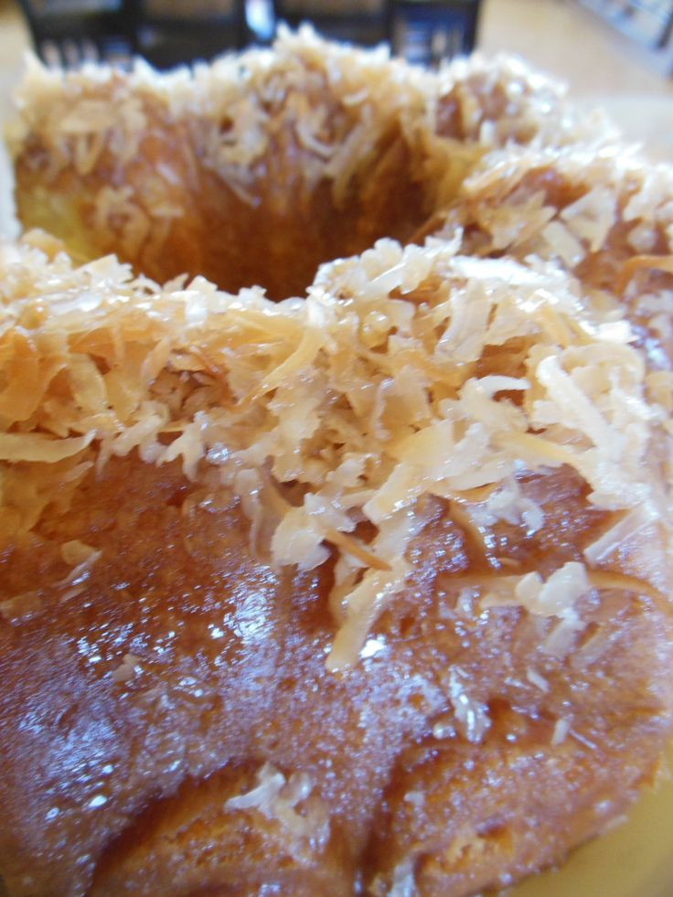 Coconut Rum Cake | Southern Recipes | Pinterest