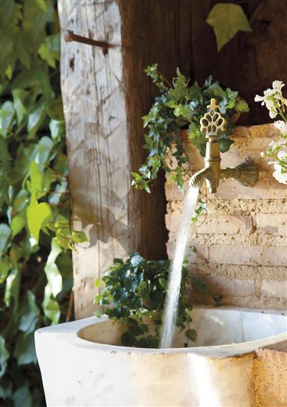 Sink: stone potting sink Floral & Gardens Pinterest