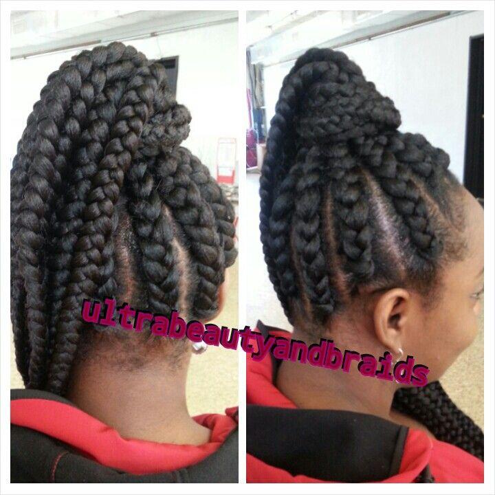 Jumbo Braids Hairstyles Jumbo braids/goddess braids