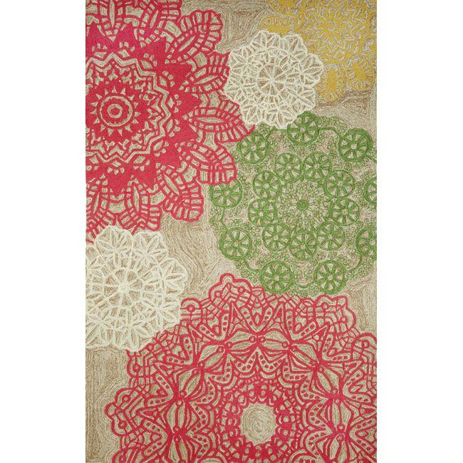 "Lace Tile Decorative Outdoor Rug 5 x 7 6"""