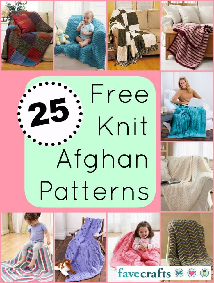 25 Free Knit Afghan Patterns Under Cover Pinterest