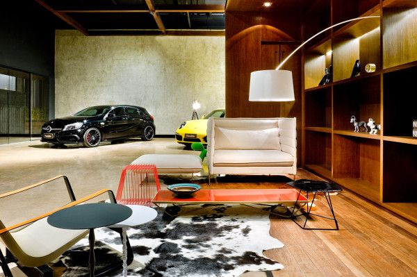 showroom for luxury cars in main interior design architecture category