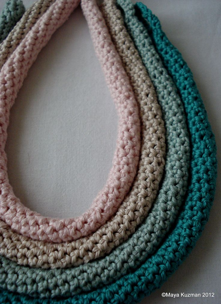Crocheting Necklaces : PDF Crochet Pattern - Crocheted Tube Necklaces, crocheted necklace ...