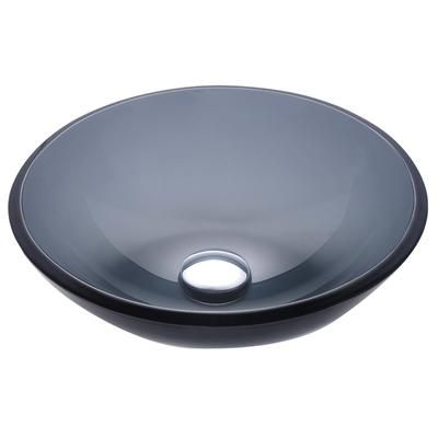 Kraus Sinks Canada : KRAUS - Clear Black Glass Vessel Sink - GV-104 - Home Depot Canada