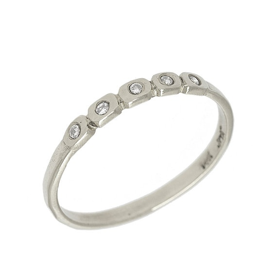 Artisan Delicate Rectangle Diamond Wedding Band In Rings Jewe
