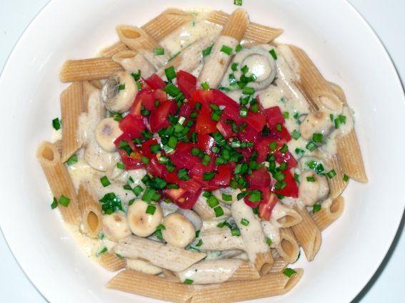 Cheese & mushroom sauce with chives Recipe - http://www ...