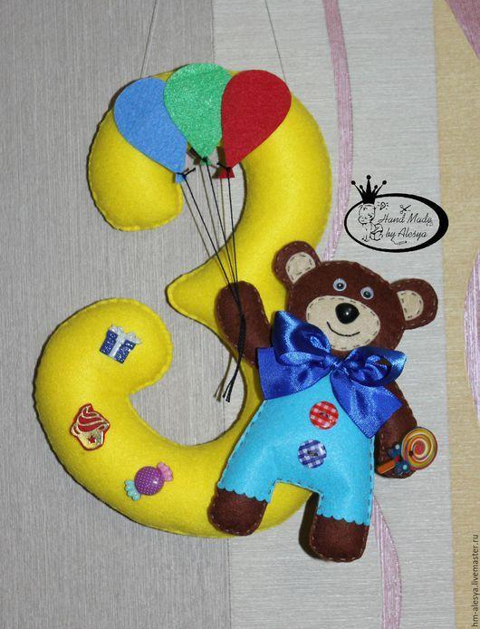 Цифры для дня рождения из фетра своими руками 30