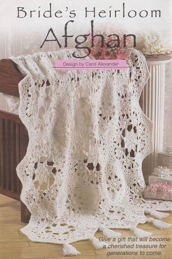 Crochet Wedding : Brides Heirloom Afghan Crochet Pattern - Pretty Wedding Keepsake