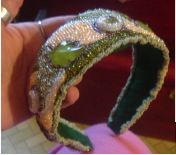 Beaded Embroidered Head Band  Etsy, $58.95