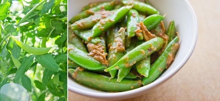 Sesame-Soy Snap Peas | Eats to Make | Pinterest