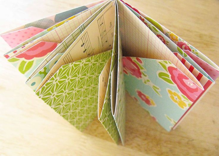Folded pocket mini book tutorial from the @October Afternoon blog