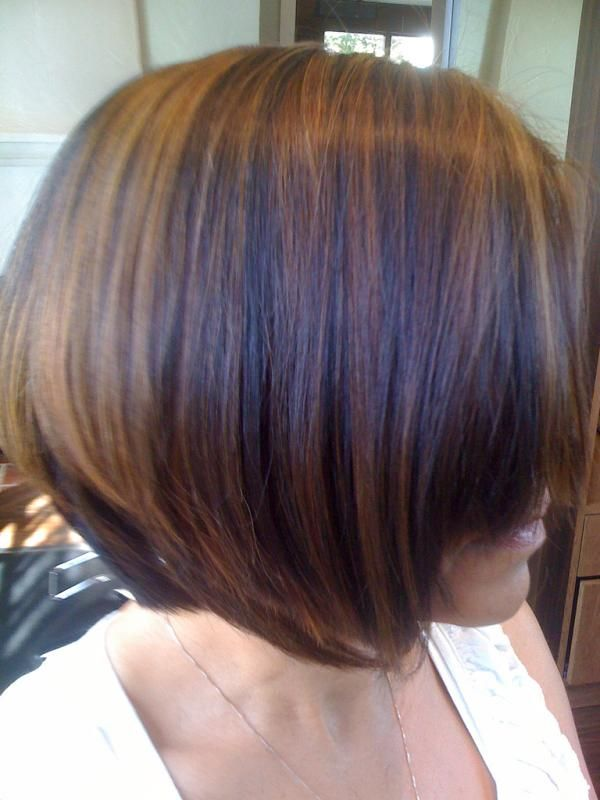 Brown Hair Color with Caramel Highlights