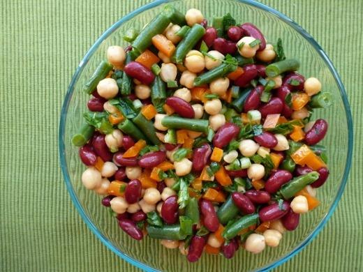 Speedy Three-Bean Salad from OSG | Blog | Pinterest