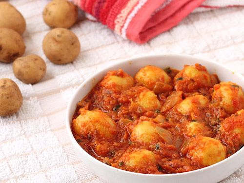 Potato Curry with Baby Potatoes.. If the potatoes are not really small ...