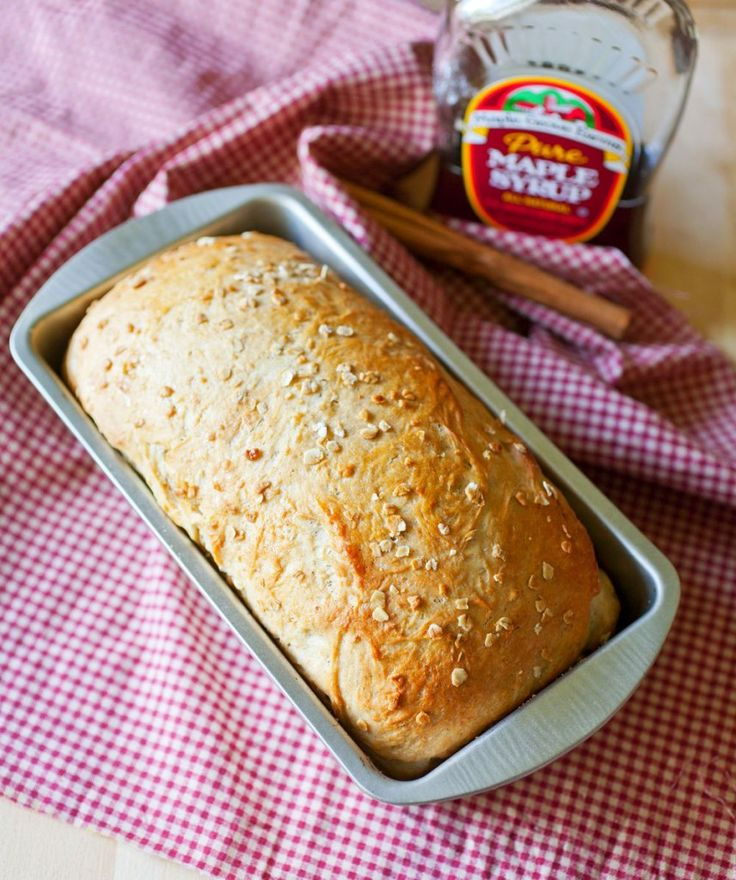 Maple Oat Bread | Bread - the Staff of Life | Pinterest