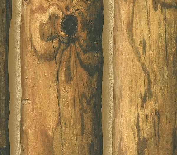 Cedar faux log cabin wallpaper for Faux log homes
