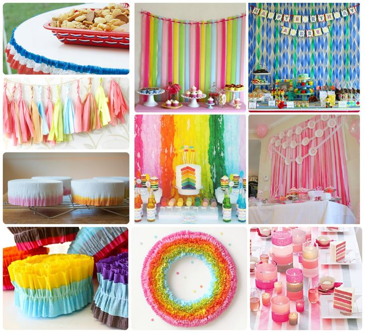 Streamer ideas party decorations favors pinterest for Party streamers decorating ideas