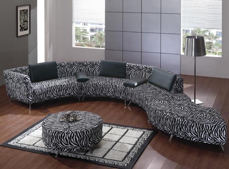 Zebra sofa my favs pinterest for Zebra sectional sofa
