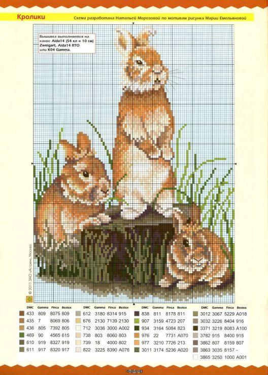 Схемы вышивки крестом из журналов как вышивать 635