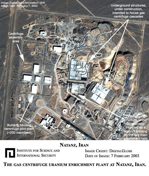 2003 satellite map of the Natanz Iran facility where Stuxnet struck