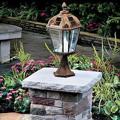 post or driveway entrance column this gaslight look lamppost head. Black Bedroom Furniture Sets. Home Design Ideas