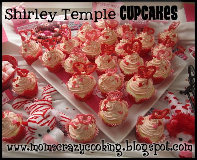 Shirley Temple Cupcakes | Drinks & Food | Pinterest