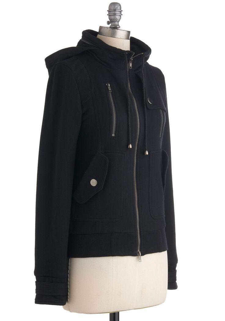 Refashion idea for an oversized wool coat. Leipzig Hoodie | Mod Retro