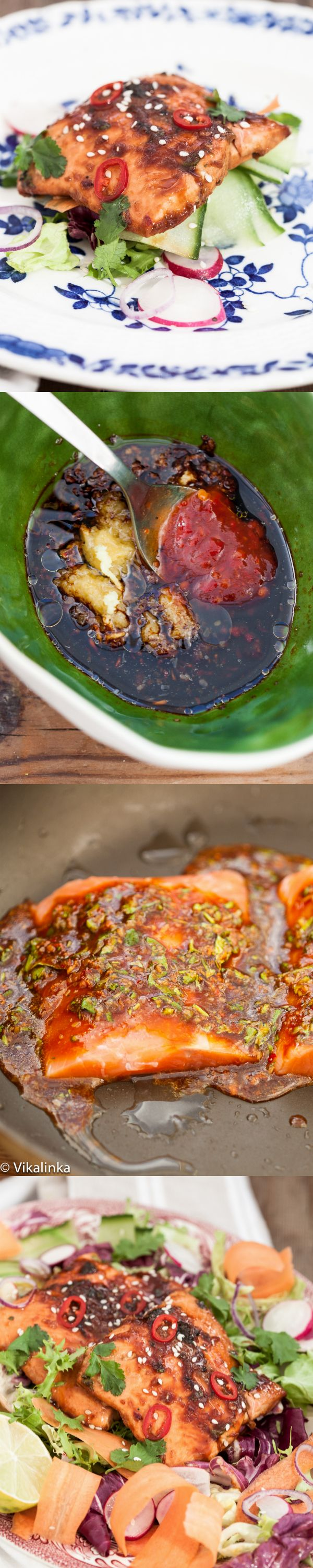 Ginger and Soy Glazed Salmon   Recipe