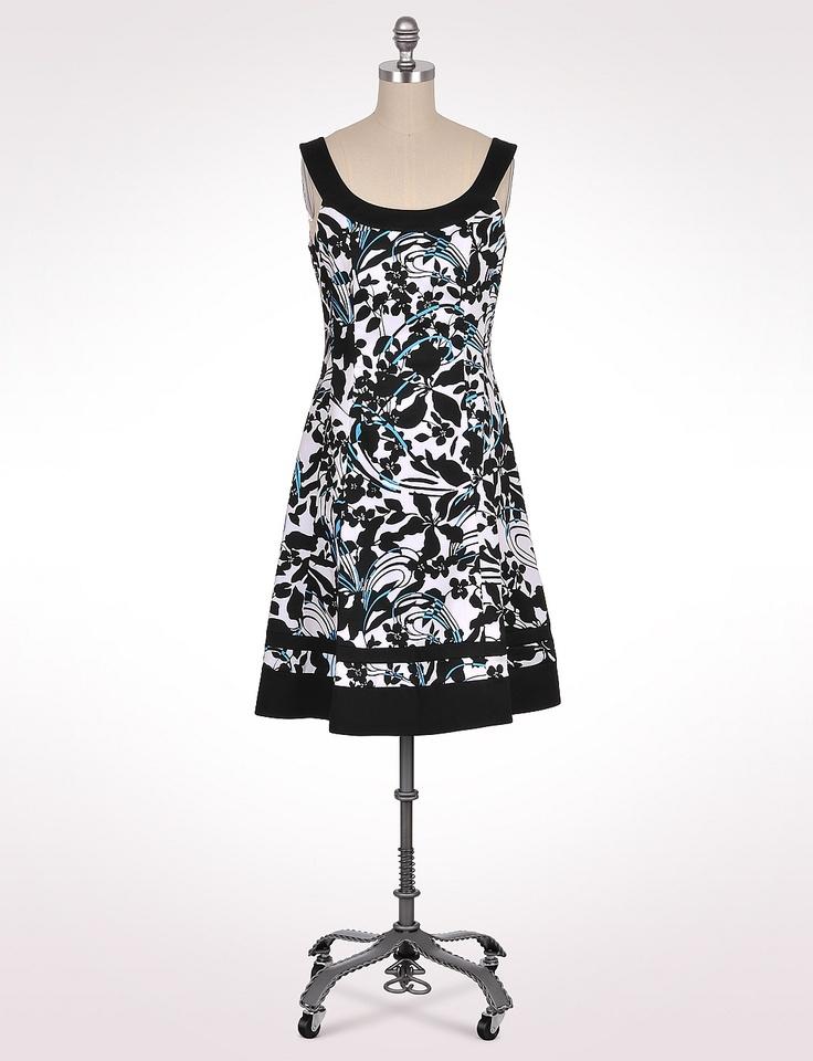 Misses | Dresses | Banded Floral Swirl Dress | dressbarn