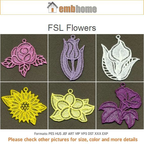 Fsl flowers free standing lace machine embroidery designs