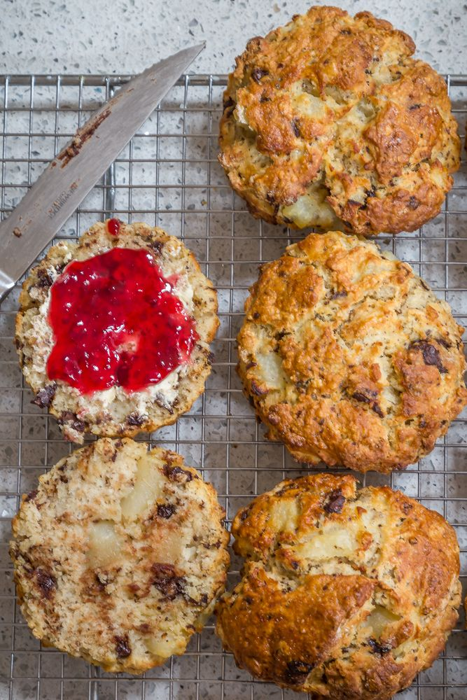 Chocolate chunk and pear scones   Recipes to try   Pinterest