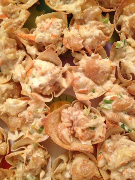 Shrimp Wonton Cups   A Nerd Cooks   Food   Pinterest