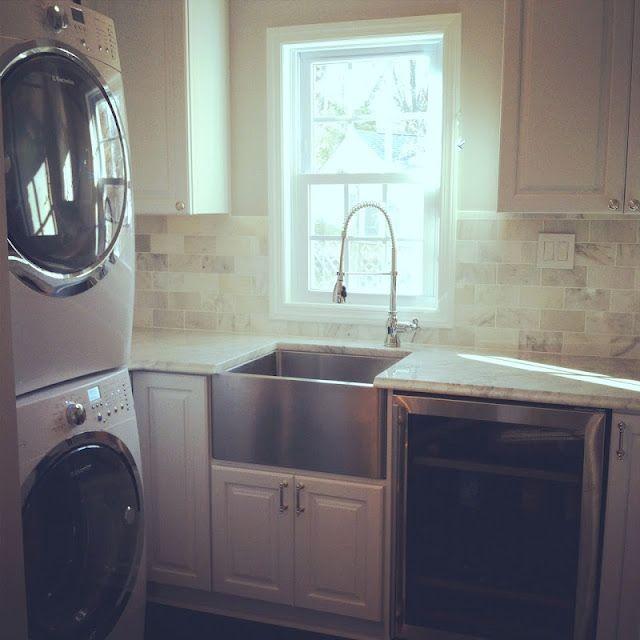 gorgeous pantry laundry room marble countertops backsplash