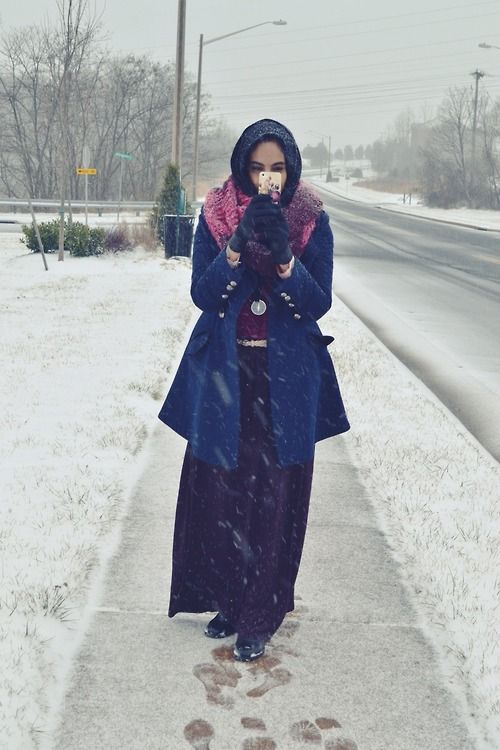 Hijab Winter Style-14 Stylish Winter Hijab Outfit Combinations