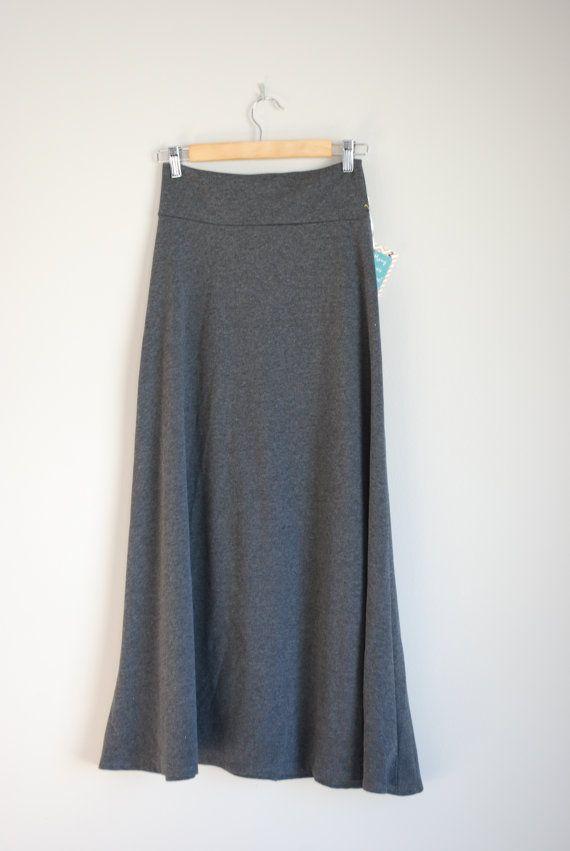 charcoal gray maxi skirt