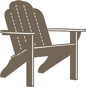 Adirondack Chair Silhouette - ma