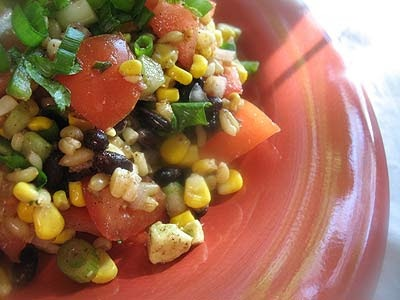 Brown Rice and Two-Bean Salad with Chili-Lime Dressing | Lisa's ...