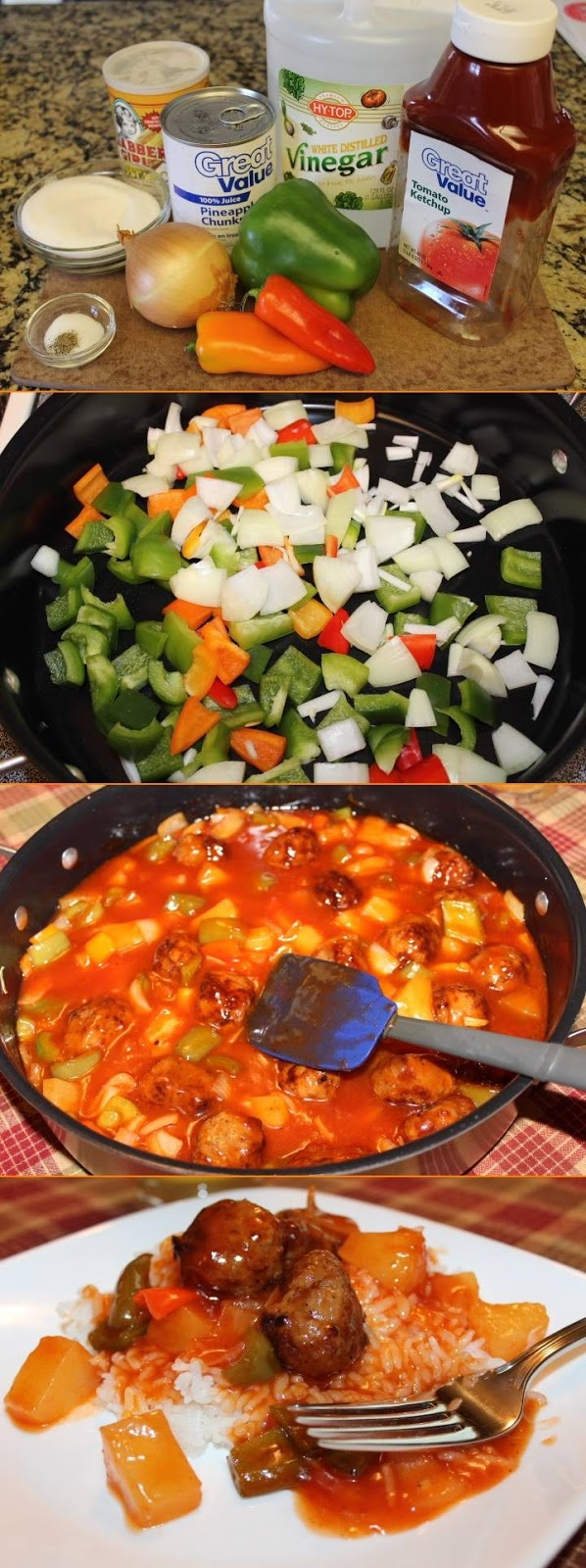 Sweet & Sour Sauce, with meatballs or chicken - flavorful and easy ...