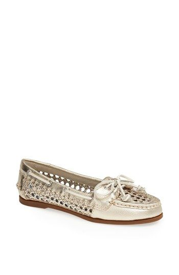 Sperry Top-Sider® 'Audrey' Open Weave Leather Boat Shoe available at #Nordstrom
