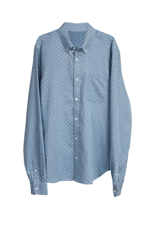 Limited supply click image above classic button down in light polka