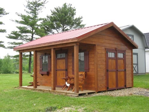 Wood Storage Sheds With Porch Type