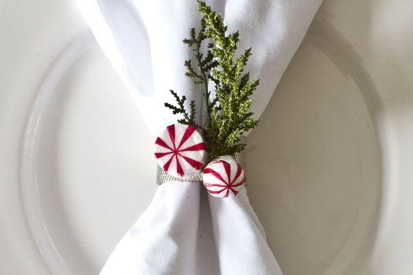 Napkin Ring Idea Christmas Pinterest