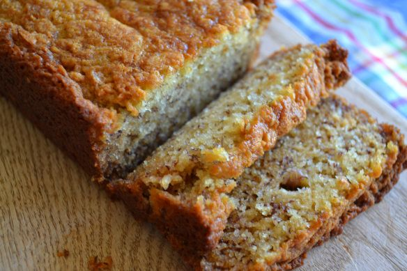 Easy banana bread - so fluffy, sweet, and a little buttery; when I don ...