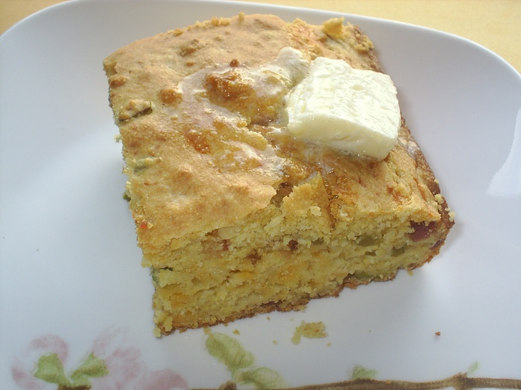 Bacon, Cheddar and Chile Cornbread | Food - Breads | Pinterest