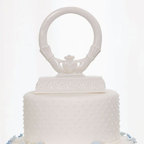Claddah ring wedding cake topper irish wedding cake topper traditio