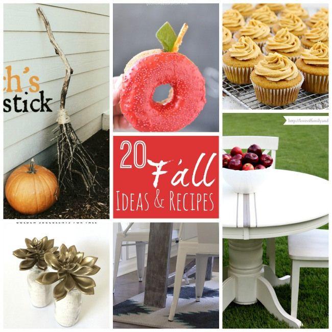 20 Fall Ideas and Recipes to Inspire YOU!! -- Tatertots and Jello #DIY #Fall #recipes