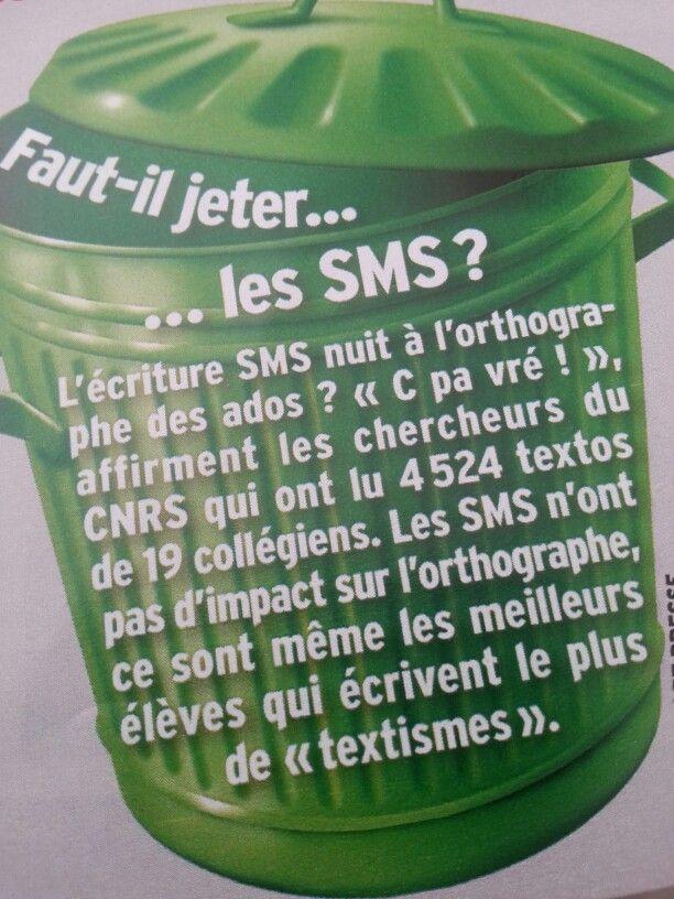 Plutôt rassurant! Langage des ados et SMS.
