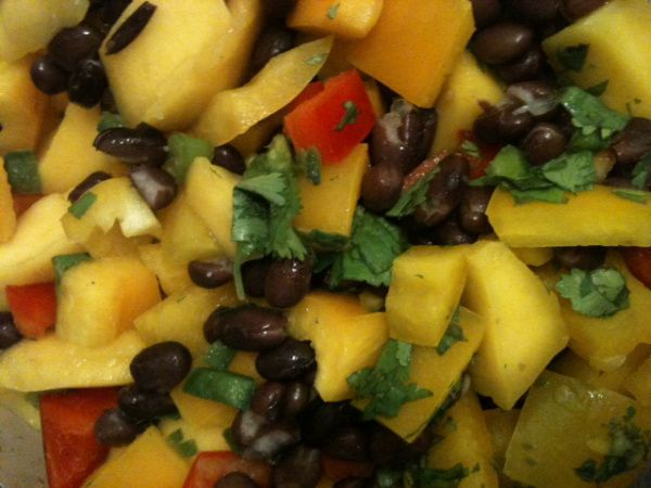 Mango Black Bean Salad Recipe — Dishmaps