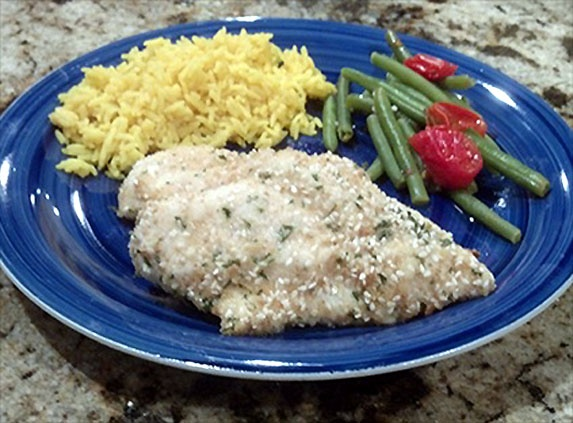 ... Dijon chicken can be served atop yellow rice or pearl couscous, or