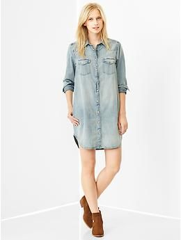 1969 western denim shirtdress